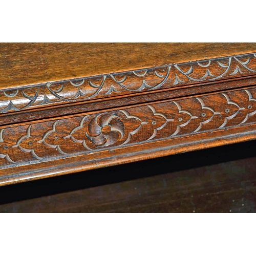 44 - Antique carved bookcase...
