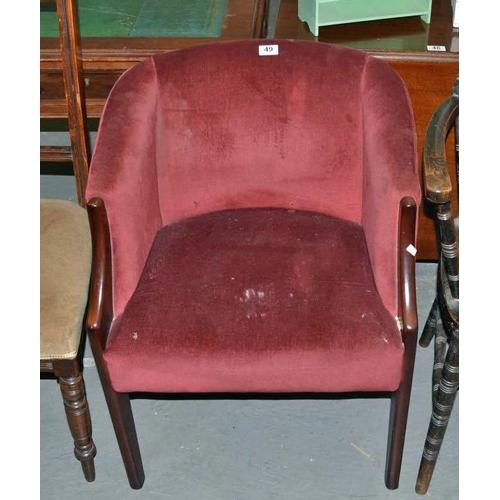 49 - Vintage tub chair...