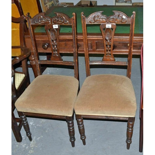 50 - Pair of dining chairs...