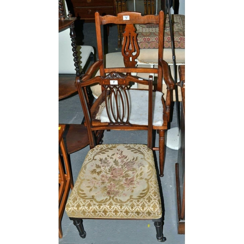 7 - 2 antique chairs...