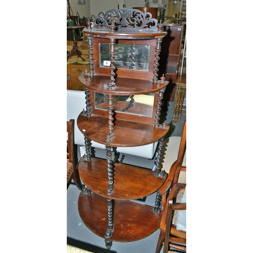 8 - Antique 5 tier mirrored what-not...