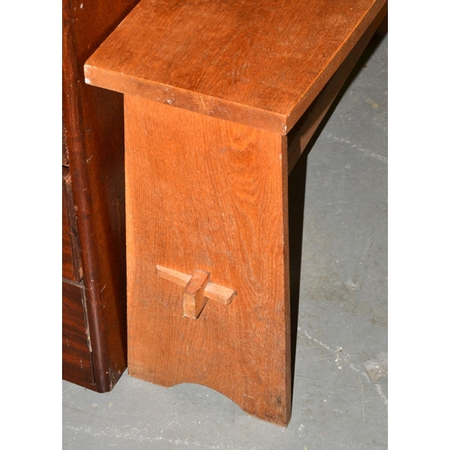 5 - Arts and Crafts style oak side table...