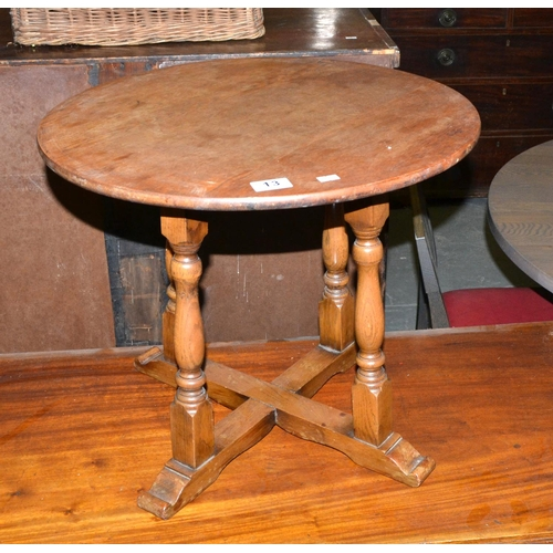 13 - Small oak table...
