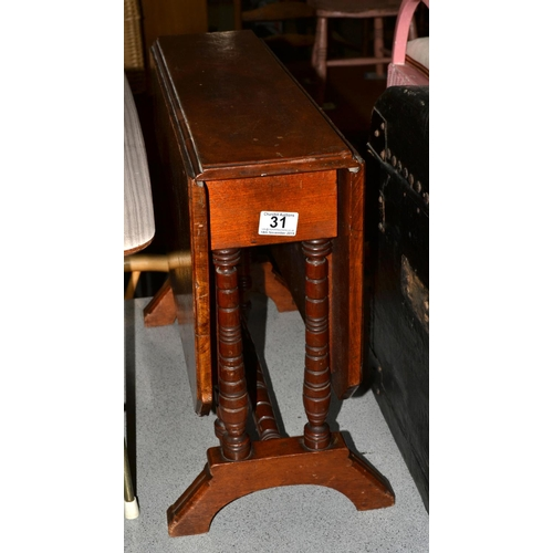 31 - Antique Sutherland table...