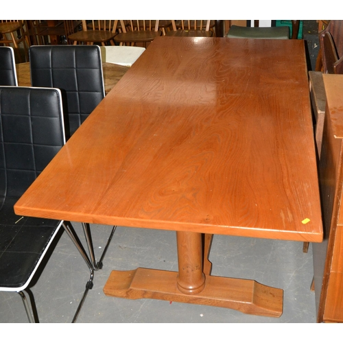 20 - A large light wood refectory style table - believed to be Oak...