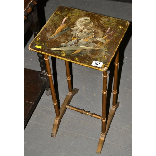 22 - Painted side table...