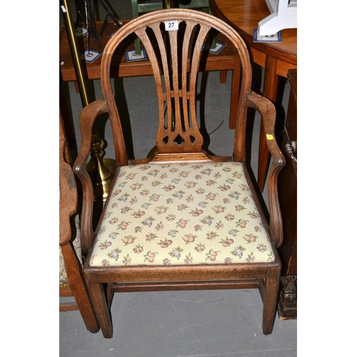27 - Georgian mahogany armchair...