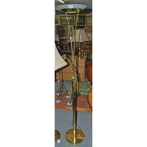 29 - Brass uplighter...