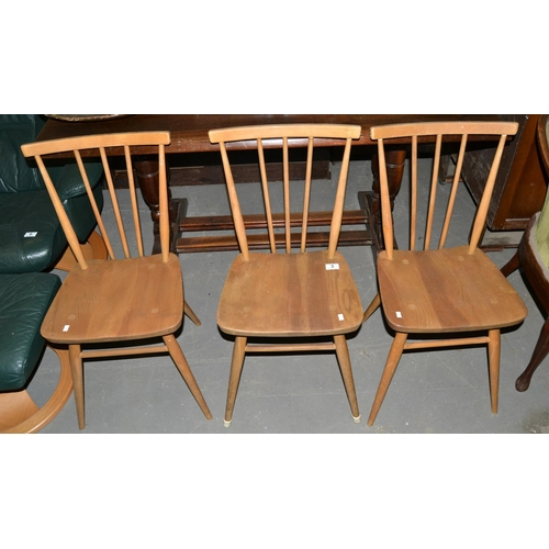 3 - A set of 3 Ercol 391 Original All Purpose dining chairs - 1960's...