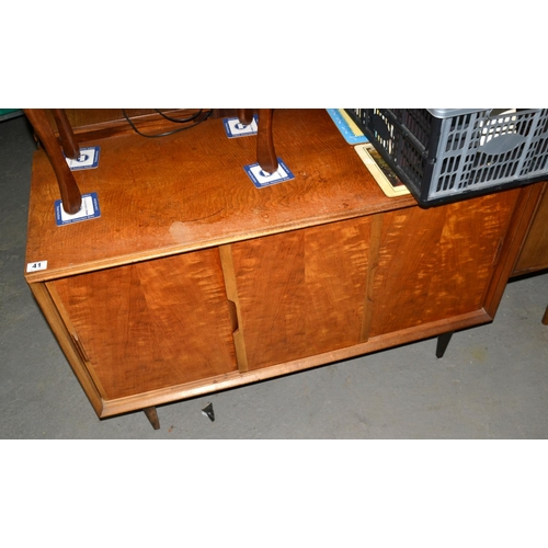 41 - Unusual retro cabinet with sliding doors...