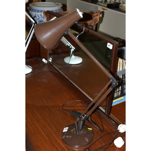 45 - Anglepoise Apex 90 desk lamp in brown...