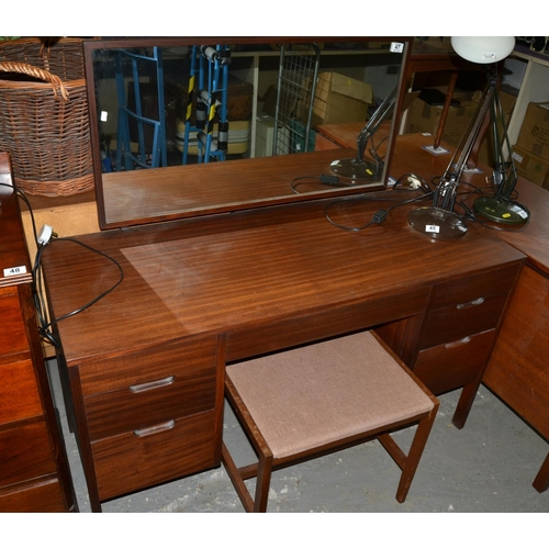 47 - Retro dressing table and stool...