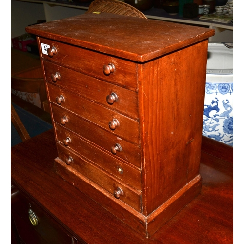 49 - 6 drawer vintage wooden collectors chest...