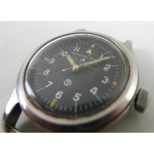 815 - Two military wristwatches, comprising an International Watch Company stainless steel wristwatch, cir...