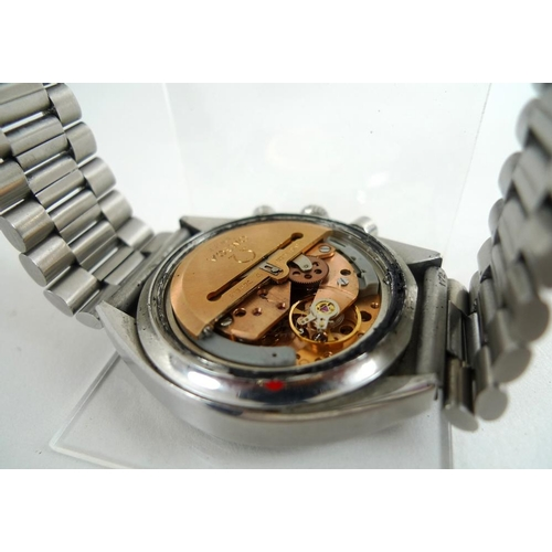 837 - An Omega Speedmaster Automatic stainless steel cased gentleman's chronograph wristwatch, late 1970s,...