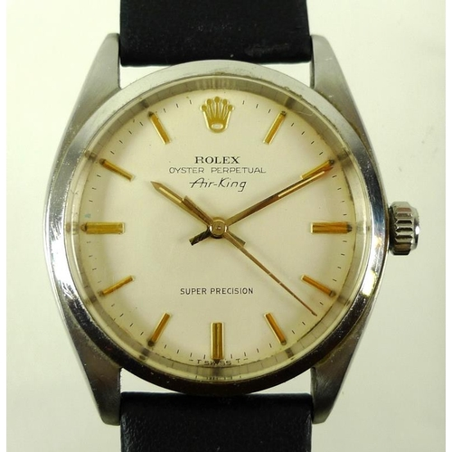 795 - A Rolex Oyster Perpetual Air-King steel cased gentleman's wristwatch, Super Precision, circa 1965, t...