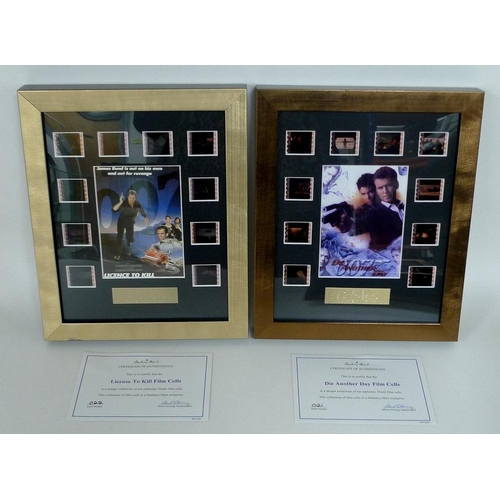 A group of twelve framed collections of 35mm film cells and ...