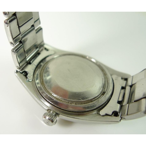 791 - A Rolex Oyster Precision gents wristwatch, steel bracelet, purchased in Cyprus in 1965/66 by a membe...