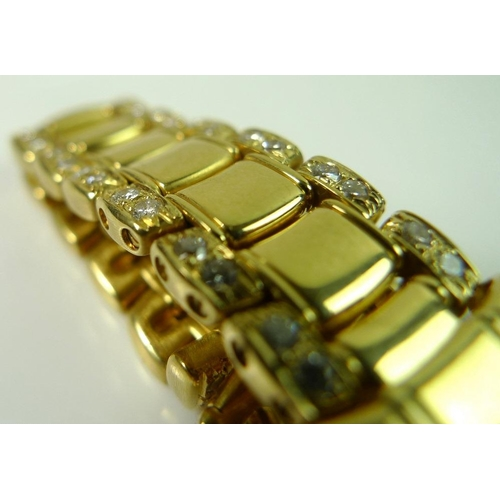 848 - A lady's 18k gold and diamond set Ebel Sport Classique wristwatch, circa 1990's, the bezel, case and...