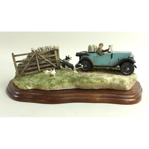 526 - A Border Fine Art limited edition figure group 'At the Vintage', number 1398 of 2000, modelled by R....