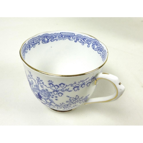 532 - A Royal Albert part teaset, decorated in the Mikado pattern, comprising six cups, 7cm high, six sauc...