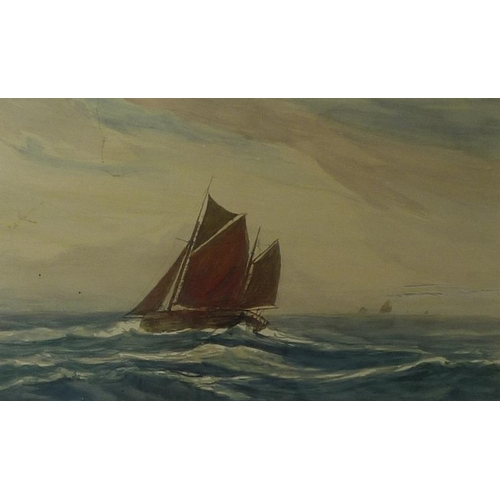 559 - The Hon. Duff Tollemache (British, 1859-1936): 'Grimsby Fishing Boats' and 'Dunswick Cobbles, Yorksh...