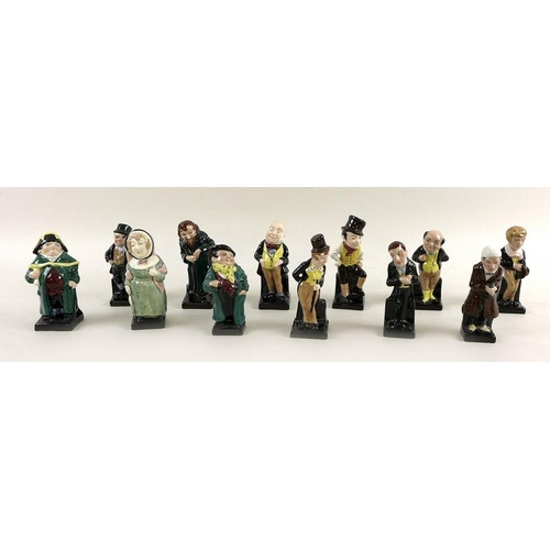 A group of twelve Royal Doulton figurines, modelled as Charles