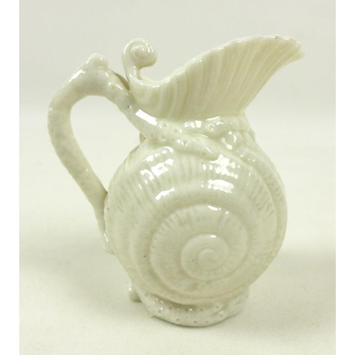 514 - A Belleek porcelain shamrock basket, circa 1930, with applied rose and shamrock decoration to the ro...