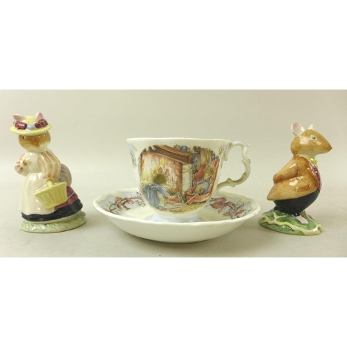 527 - A group of nine Royal Doulton figurines, modelled as Alice, HN2158, And So To Bed, Childhood Days, H...