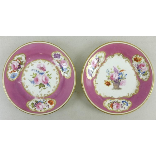 529 - A group of five English and Continental porcelain plates and dishes, 18th and 19th century, comprisi...