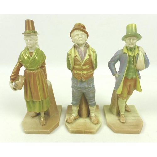 539 - A group of three Royal Worcester porcelain figurines, each from the 'Countries of the World' series ...
