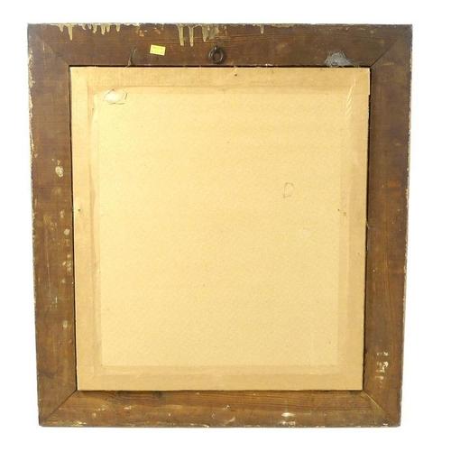 544 - A portrait of an Edwardian gentleman, with bushy beard, wearing a navy overcoat, the gold Albert cha...