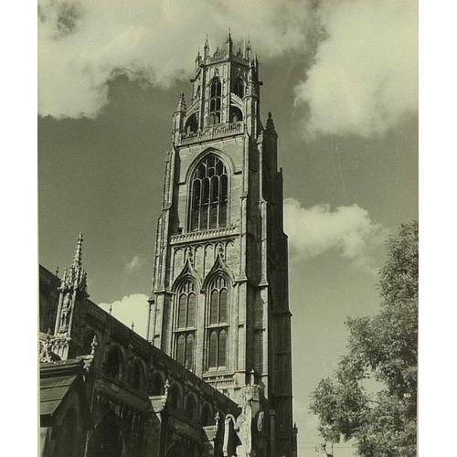 546 - After George Vernon Clark, member of London Salon: group of eight monochrome prints of Boston Stump,...