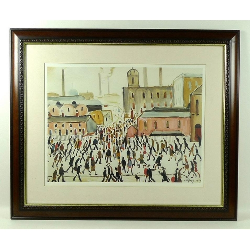 550 - After Laurence Stephen Lowry (British, 1887-1976): 'Going to Work', limited edition print, 481/850, ...