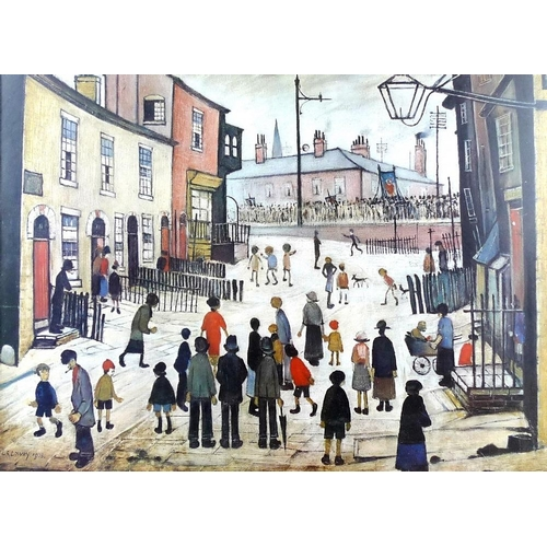 551 - After Laurence Stephen Lowry (British, 1887-1976): 'A Procession', published by The Medici Society, ...