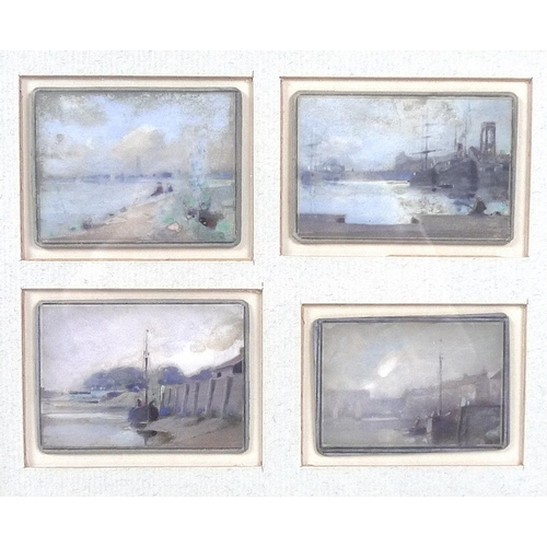 559 - British School (19th century): a group of twelve miniature watercolours of Boston, largest 5.5 by 7c...