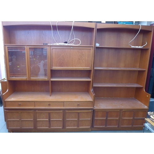 38 - Two 1970's G-plan pieces of furniture, comprising a bookcase and a sideboard, a/f condition. (2)...