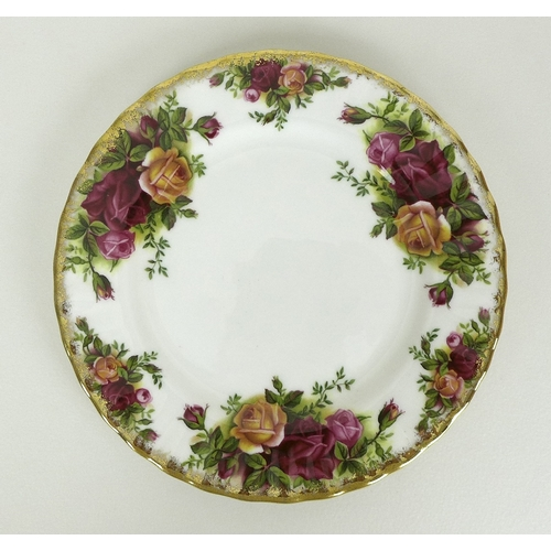 8 - A large Royal Albert part dinner service in the Old Country Roses pattern, comprising teapot, coffee...