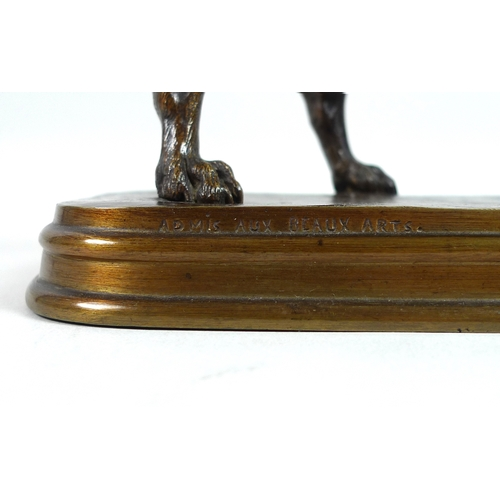 102 - After Ferdinand Pautrot (French, 1832-1874): a bronze sculpture modelled as a pointer in standing po...