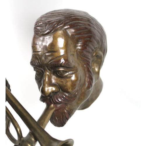 51 - Paul Douglas Wegner (American, b. 1950): 'Jazz Quartet', a bronze figural sculpture of four jazz mus...
