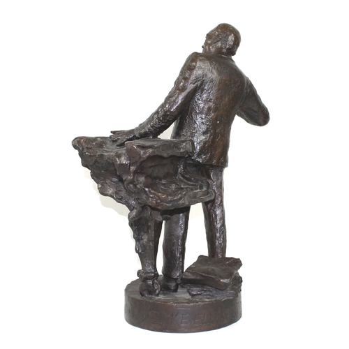 50 - Nicholas Dimbleby (British, b. 1946): 'Duke Ellington, Maquette for Soho Square, 4/50', a bronze scu...