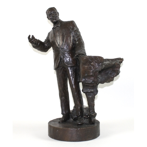 46 - Nicholas Dimbleby (British, b. 1946): 'Duke Ellington, Maquette for Soho Square, 1:XX '98', a bronze...