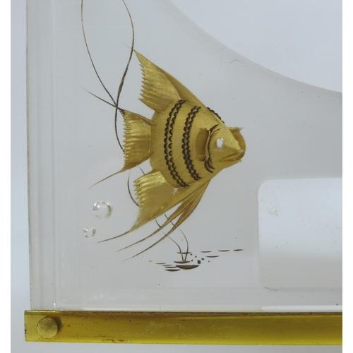 90 - A Jaeger LeCoultre Marina Aquarium Atmos clock, 'Fond Opale-Poissons', 110108B, serial 30944, circa ...