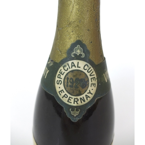 95 - Vintage Champagne: a bottle of Limonier Freres 1926 Vintage Champagne, Special Cuvee, Extra Sec, cap...
