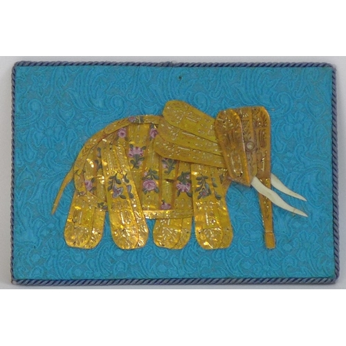 62 - A set of four late 19th or early 20th century Spanish plaques of elephants, purportedly made in hono...