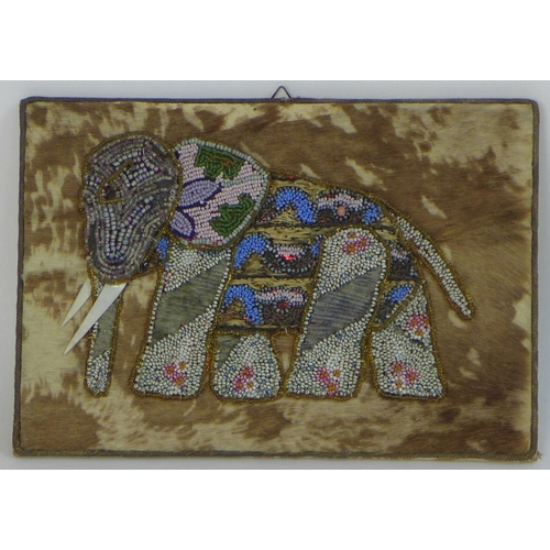 65 - A set of four late 19th or early 20th century Spanish plaques of elephants, purportedly made in hono...