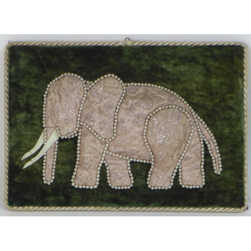 68 - A set of four late 19th or early 20th century Spanish plaques of elephants, purportedly made in hono...