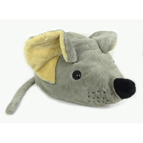 110 - A large modern Steiff plush toy, modelled as a mouse, 5394/80, 90 by 50 by 35cm high, tail 75cm....