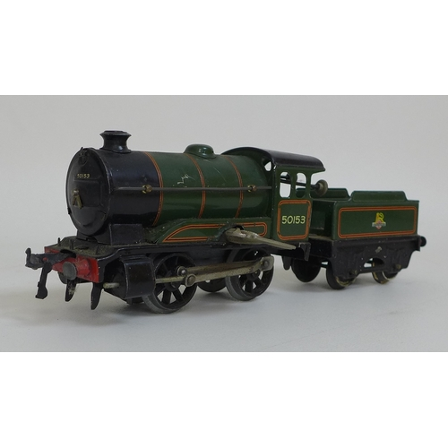 139 - A collection of vintage Hornby by Meccano, including a Hornby type 51 British Railways green locomot...