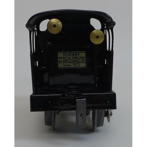 142 - A collection of vintage Hornby Meccano O gauge railway models including a No.50 locomotive, British ...